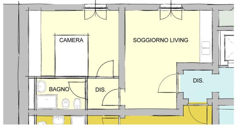 Seconda variante alloggio C1