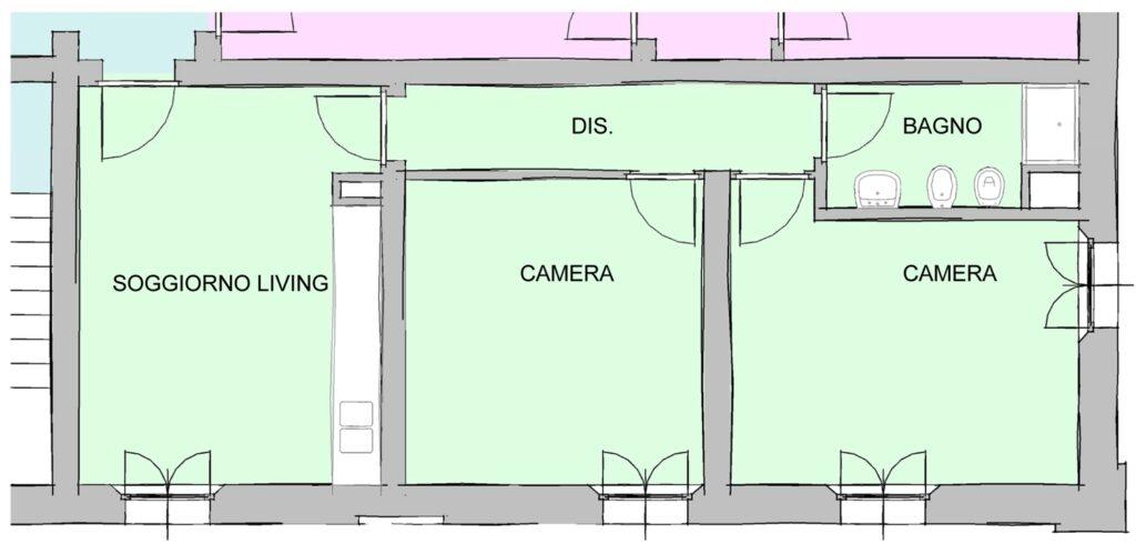 Richiesta di modifica spazi - Alloggio B