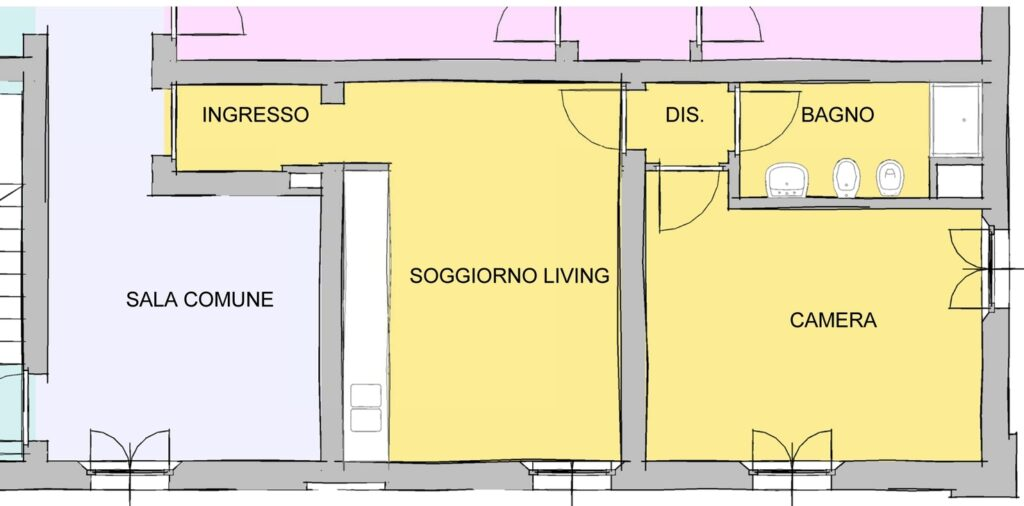 Richiesta di modifica spazi - Alloggio C2