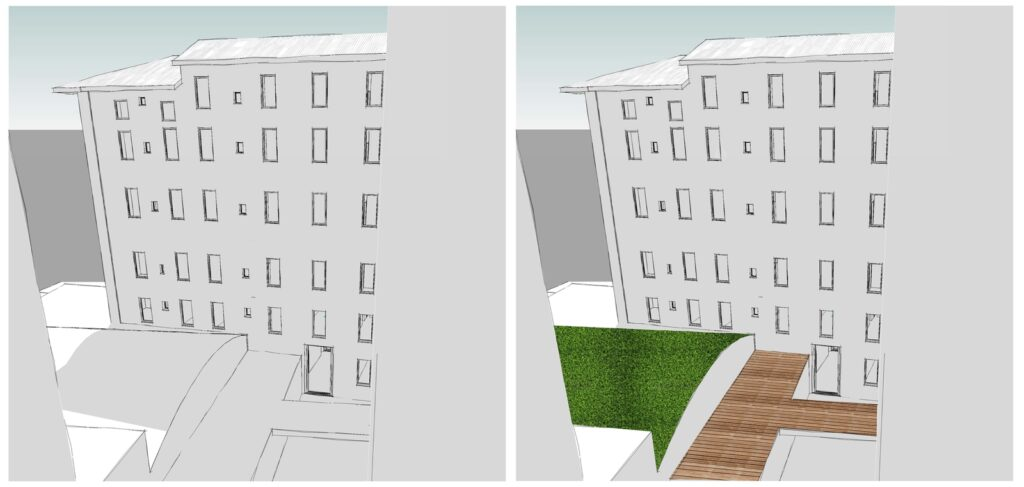spazi comuni potenzialità e vocazione terrazza confronto